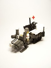 Snowmobile-Inspired (l OTTOMATIC l) Tags: old dark grey lego snowmobile