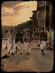 The  Whimsical Charm of Men who wear Dhoti (designldg) Tags: people india heritage varanasi tradition ganga ganges ghats benaras uttarpradesh भारत indiasong anawesomeshot hourofthediamondlight betterthangood