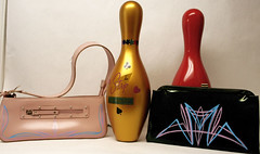 "Retro Recycled Bowling Pins and Purses • <a style=""font-size:0.8em;"" href=""http://www.flickr.com/photos/85572005@N00/2271977041/"" target=""_blank"">View on Flickr</a>"