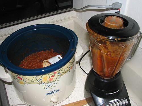 Lentil soup blending