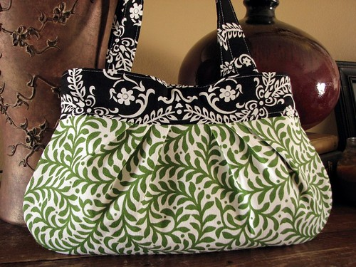green & black bag