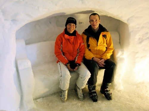 Alexandra and Michael at the Ice Palace, Dachstein Glacier