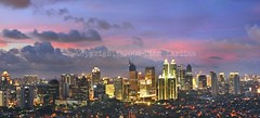 Panorama Jakarta (diankarl (www.diankarlina.com)) Tags: city urban panorama skyline indonesia java asia skyscrapers dusk jakarta cityview nightimage metropolitancity diankarl diankarlina wwwdiankarlinacom