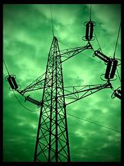 Green apocalypse (#PrOtOtIpO23) Tags: sky verde green samsung cielo lente luce viareggio corrente mattina elettricit traliccio folker bilanciamento nuvoloe