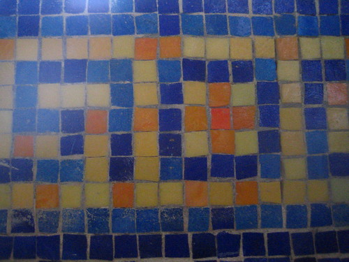 Tilework at the pool
