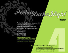 Pecha Kucha Boston 4 poster
