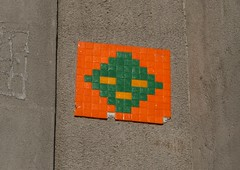 KNSM-Laan (AI_079) (Meteorry) Tags: street orange haven holland art netherlands amsterdam wall port island harbor europe spaceinvader spaceinvaders nederland east tiles rue mur paysbas est knsmeiland knsm oost knsmlaan mosaques carrelage carreaux meteorry amsterinvader ai079 amsteralien