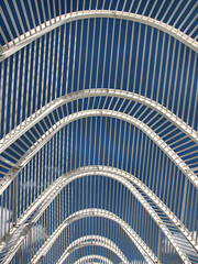 Calatrava  -  Athene / Athens (by_irma) Tags: blue white abstract bluesky athens greece calatrava athene griekenland mywinners tenandten