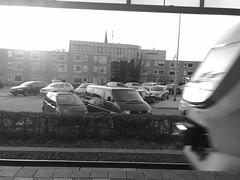 Intercity passing Heiloo (Just a guy who likes to take pictures) Tags: bw en white black holland blanco public netherlands monochrome station train volkswagen blackwhite moving und europa europe flat y zwartwit ns negro transport nederland thenetherlands fast rail zug double infrastructure rails holanda publictransport zwart wit weiss paysbas schwarz niederlande zw ov openbaarvervoer the dekker heiloo vervoer weis openbaar infrastructuur doubledekker overkerck