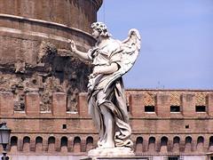Angel with the Nail (Vestaligo) Tags: city italien bridge italy rome roma angel europa europe stadt engel brcke rom castelsantangelo engelsburg bellitalia anticando
