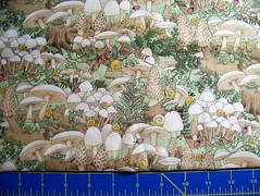 Fabric Stash - Woodland fungi and critters