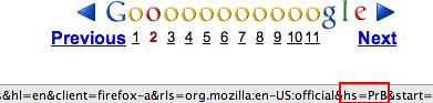 Google / Firefox Parameter