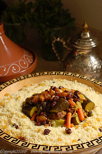 Berber Couscous with Spicy Glazed Onions