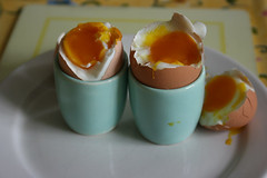 Breakfast. (sarah  brown) Tags: orange cup yellow egg free plate eggs organic range