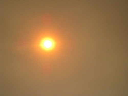 Sun in the Santa Cruz Fire Smoke