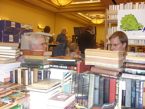 David Hartwell & Karl Schroeder in the dealers' room