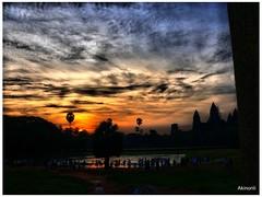 Angkor Wat Sunrise (Akinori Li) Tags: trip travel architecture sunrise lumix asia cambodia ruin panasonic siem reap angkor wat hdr sunup hdri worldheritage fz50     akinori   dmcfz50 angkorhdr akinorili