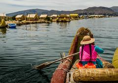 Puno - The Uru People (MalancaA) Tags: boat peddle titicaca uru peru uros