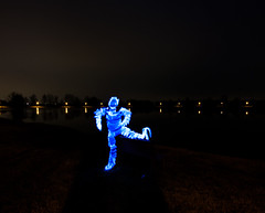 Tubolar man (pepe50) Tags: pepe50 light night lightpainting italy campogalliano cave leisure paint painting longexposure travel fun party circle fire woolsteel martian ufo alien canon canon450d emiliaromagna notte flickr lamp fiamme body lux fiatlux lake trail funny 2017 nature dark sky flare woman scintille tree water acqua blu beanch panchina