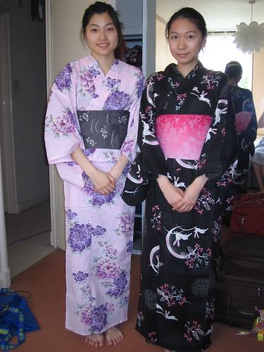 Carol and Jenny in yukata