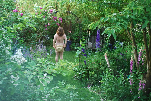 Naked in the garden