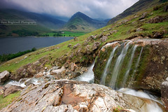 Storm Brewing (Dave Brightwell) Tags: trees sky lake storm mountains water rain weather clouds landscape waterfall rocks stream sony lakedistrict hills cumbria favs soe hitech manfrotto buttermere crummock fleetwith flickrclassique