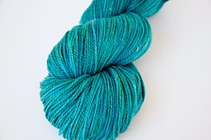 """Lagoon"" on SeaCell Sock Yarn"