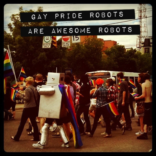 gay pride robots are awesome robots
