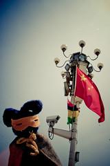 Superbunny & China (Jimmy Whippet) Tags: china bunny toys sydney craft superhero knitted superbunny tamodesign frqc
