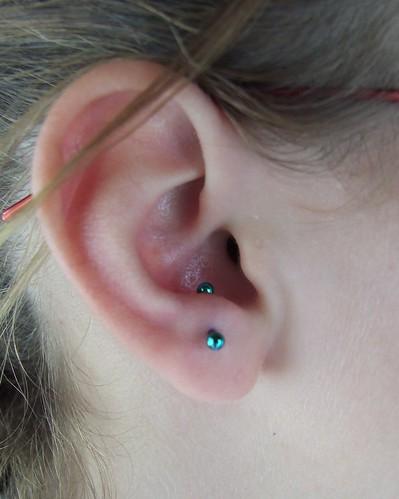 fresh 16g anti-tragus piercing - a photo on Flickriver Ear Piercings Anti Tragus