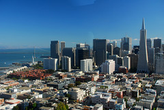 San Fran day (juliaclairejackson) Tags: sanfrancisco california city urban usa sunshine america downtown day cityscape view sunny panoramic financialdistrict baybridge vista daytime transamericapyramid cityshot