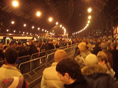 Queue at Brighton Station
