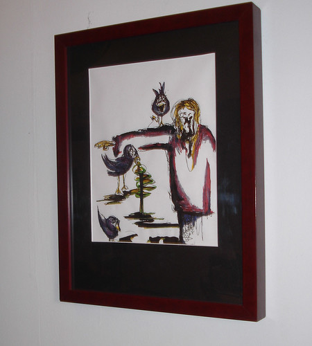 The Scarecrow & His Crows - framed -