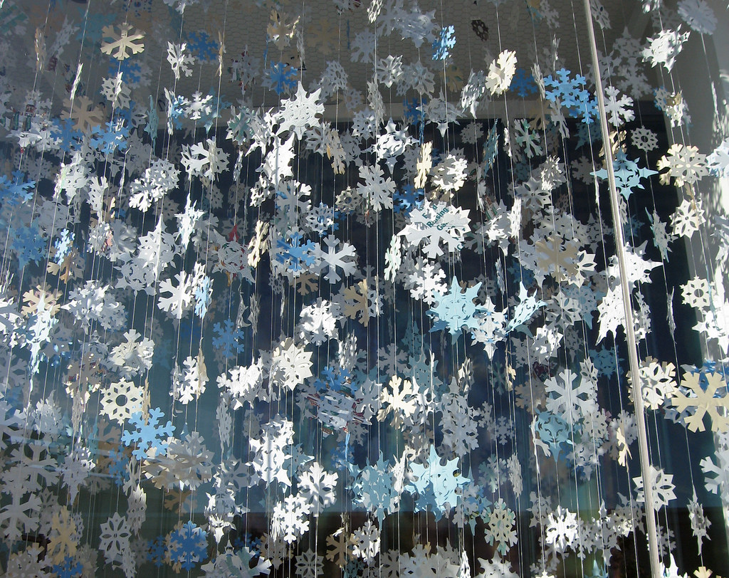 paper snowflakes by miheco, on Flickr