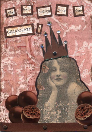 chocolate queen greeting card