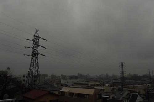 ラスト三茶定点観測は雨・・・。