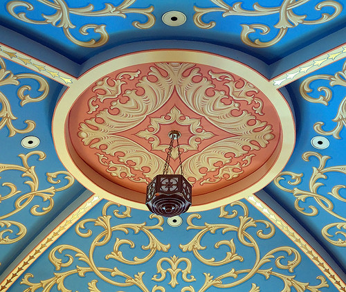 Saint Mary of the Barrens Roman Catholic Church, in Perryville, Missouri, USA - baptistery ceiling