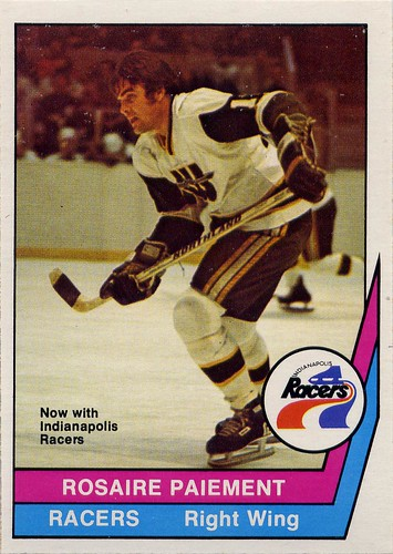Rosaire Paiement, New England Whalers, Indianapolis Racers, WHA, 77-78, O-Pee-Chee, hockey, hockey cards