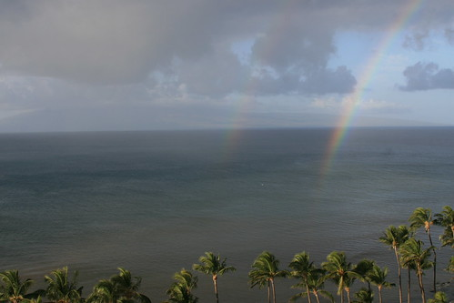 double rainbow @ the hyatt