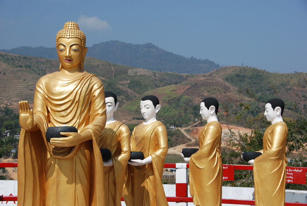 Procession of Buddhist statues
