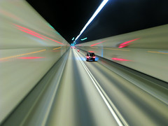 Speed Tunnel (Life in AsiaNZ) Tags: china longexposure hk motion blur bus window lines car night speed canon point hongkong lights vanishingpoint movement long exposure nightshot action g tunnel powershot hong kong vehicles fv10 series   vanishing doubledecker afterdark dusktilldawn  g9 gseries superaplus aplusphoto noncoloursincolour 200850plusfaves canong9 lifeinnanning speedtunnel flickrgiants