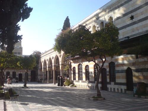 Azem Palace courtyard by shamsouri