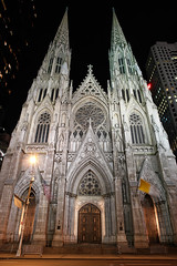 St. Patrick's Cathedral at Night (David M Hogan) Tags: nyc newyorkcity longexposure newyork church night catholic stpatrickscathedral saintpatrickscathedral davidhogan