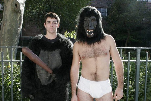 Gorilla in his undies