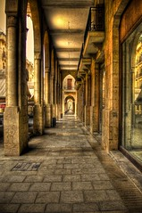 Beirut Downtown 3 - HDR (Ageel) Tags: road street old trip travel summer lebanon building history tourism beauty yellow buildings d50 lens photography golden nikon warm downtown photographer culture wideangle arabic arab saudi 1855mm arabian nikkor beirut hdr freelance 18mm freelancer  photomatix  tonemapping  ageel