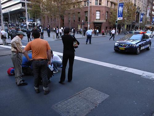 Accident on Elizabeth Street.