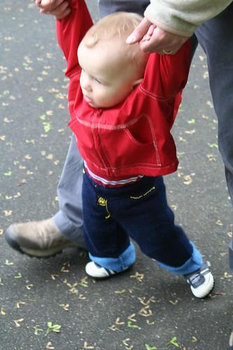 blu jeans walking