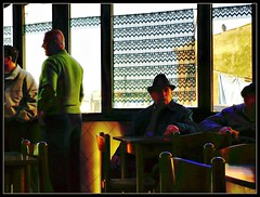 Che Noia  'sto Bar (! .  Angela Lobefaro . !) Tags: old trip travel venice vacation people italy man men bar pub italia quality candid bored boredom unesco worldheritagesite boring uomo cielo nubes mann venise venecia venezia venedig noia kneipe allrightsreserved adriatic 2007 worldheritage veneti cesvi natuzzi  angiereal travelerphotos maxgreco angelalobefaro angelamlobefaro wwwcesviorg angelamarialobefaro massimilianogreco tourisminitaly travellingarounditaly travellingtoitaly travellingtovenice pwpartlycloudy