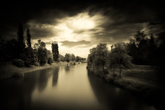 And how's the weather? (dusan.smolnikar) Tags: sky water clouds nd ljubljana ljubljanica ndfilter slowwater neutraldensity nd30