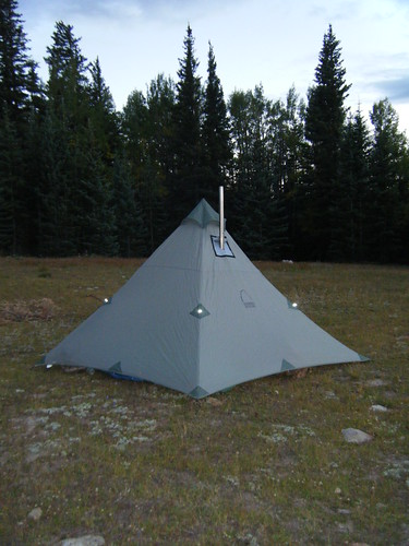 Hot tents are awsome. My set up is a Sierra Designs Origami 4 with a TiGoat stove and jack. The whole setup is 6LBS. & Tent Heater - Page 5 - Expedition Portal